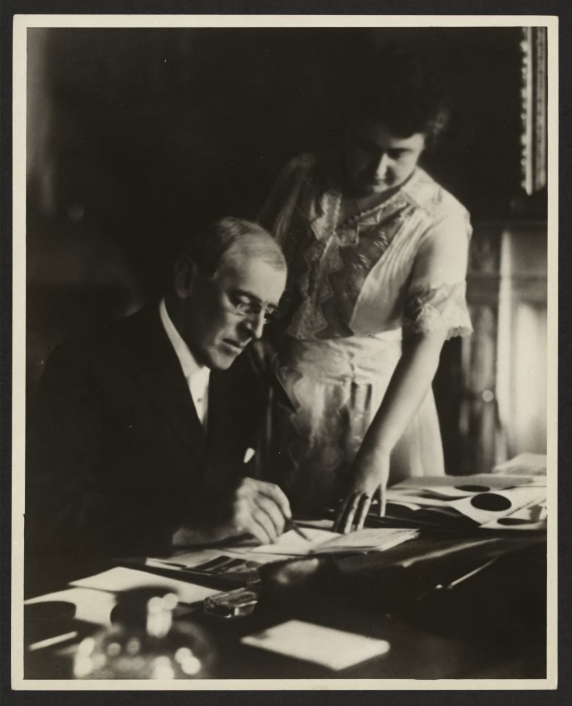 President Woodrow Wilson and First Lady Edith Bolling Galt Wilson