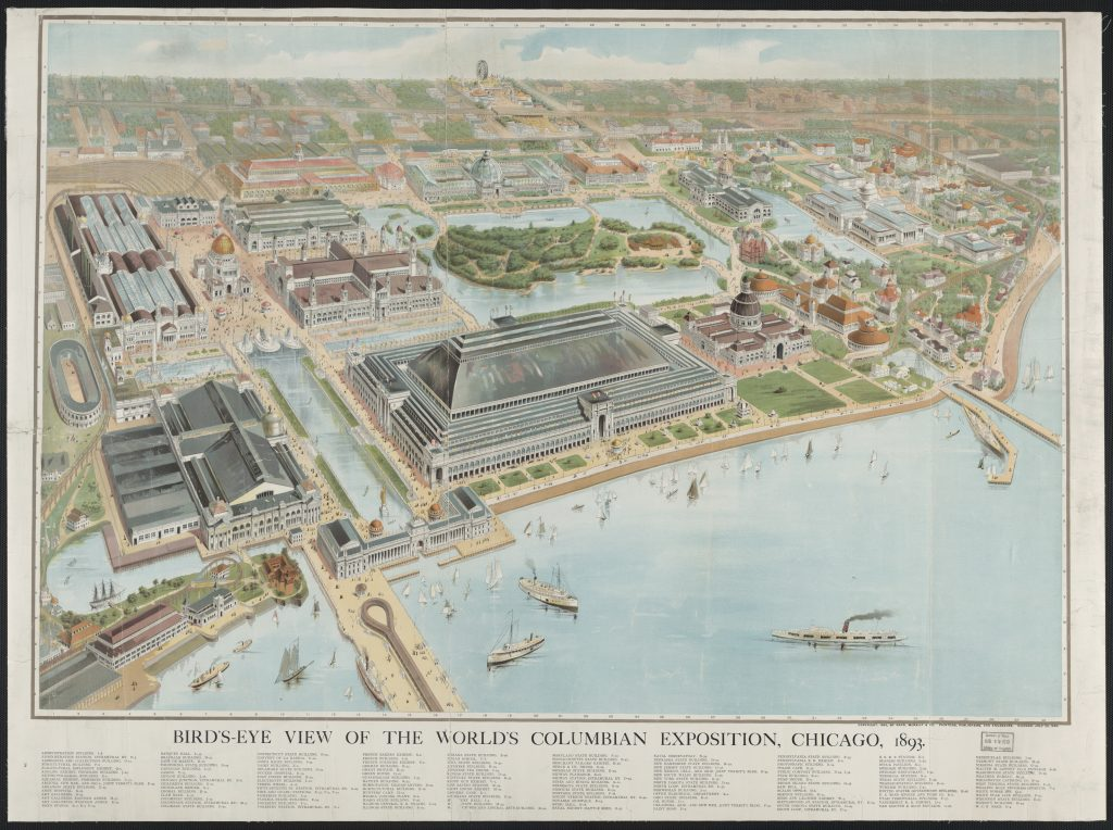 Bird's-Eye View of the World's Columbian Exposition