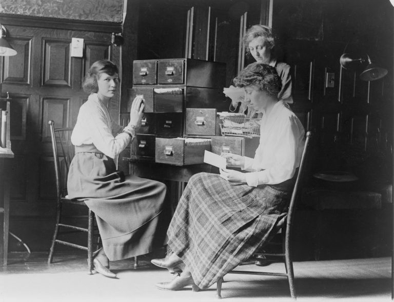 Clerical Workers at the Headquarters of the National Woman's Party