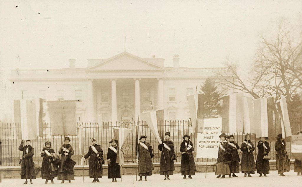 Suffragists Picketing the White House