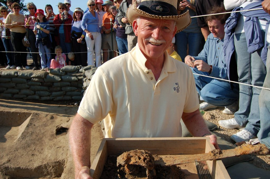William M. Kelso at Jamestown Archaeological Site