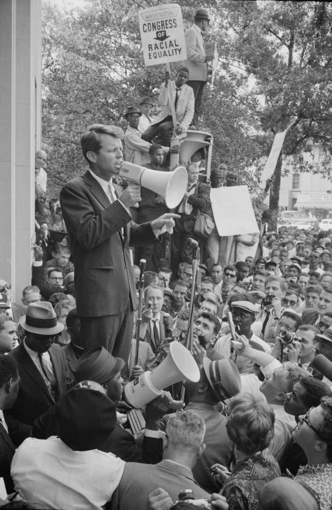 Attorney General Robert F. Kennedy Addressing Crowd