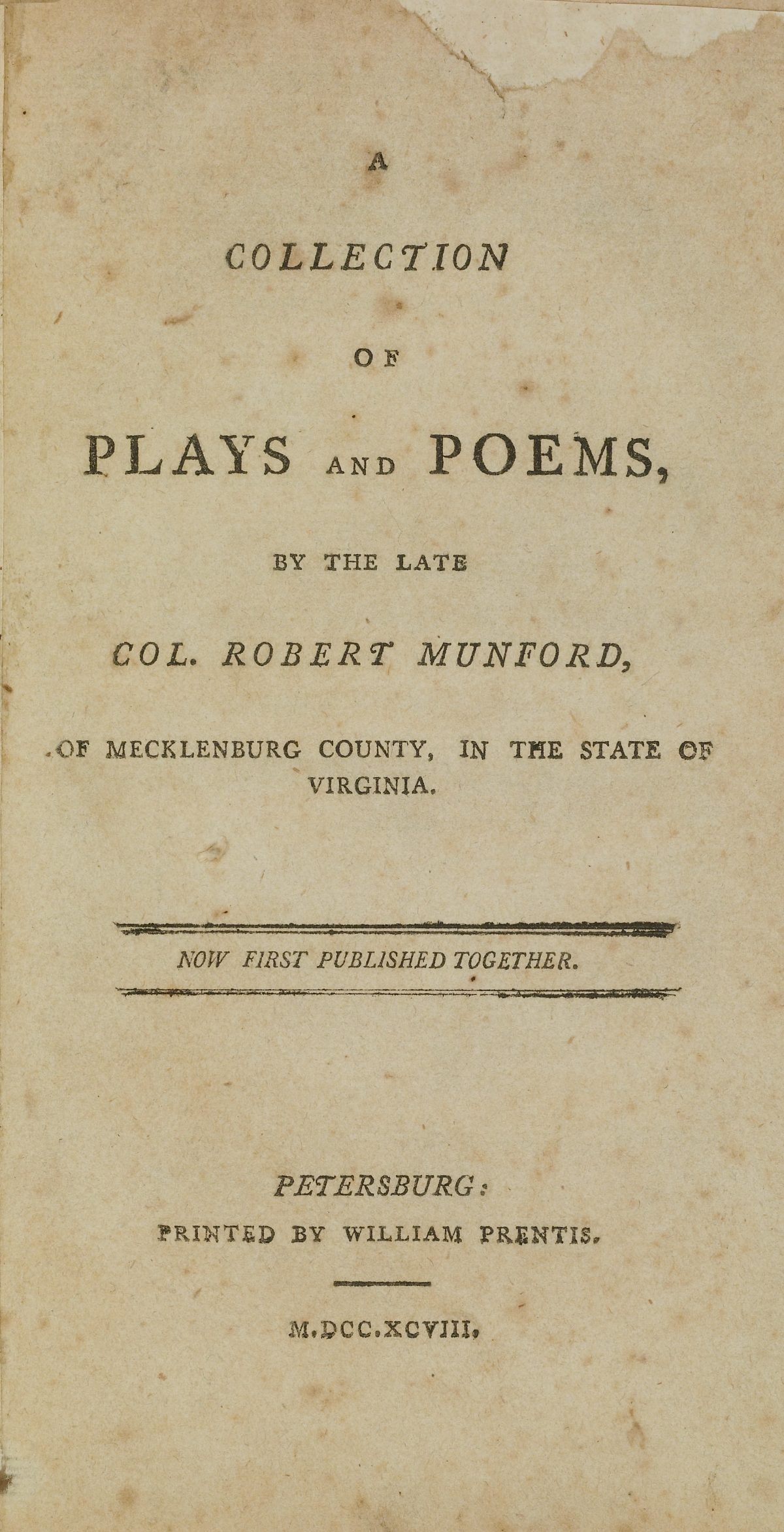 A Collection of Plays and Poems