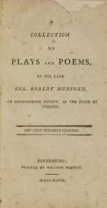Munford, Robert (d. 1783)