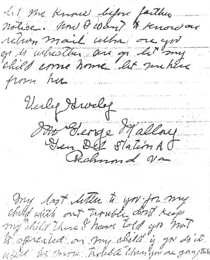 Letter from George Mallory to A. S. Priddy (November 5