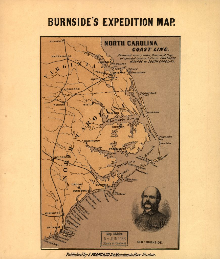 Burnside's Expedition Map