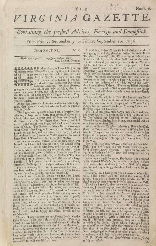 William Parks's Virginia Gazette