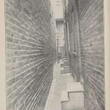 Alleyway Behind Row Houses