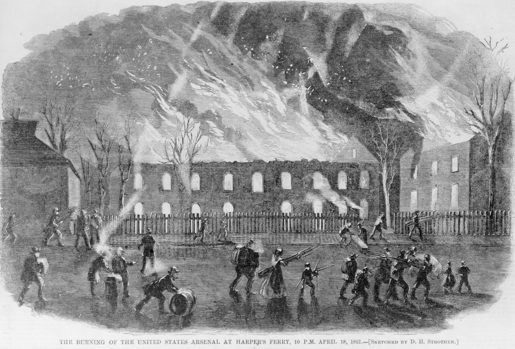 The Burning of the United States Arsenal at Harper's Ferry