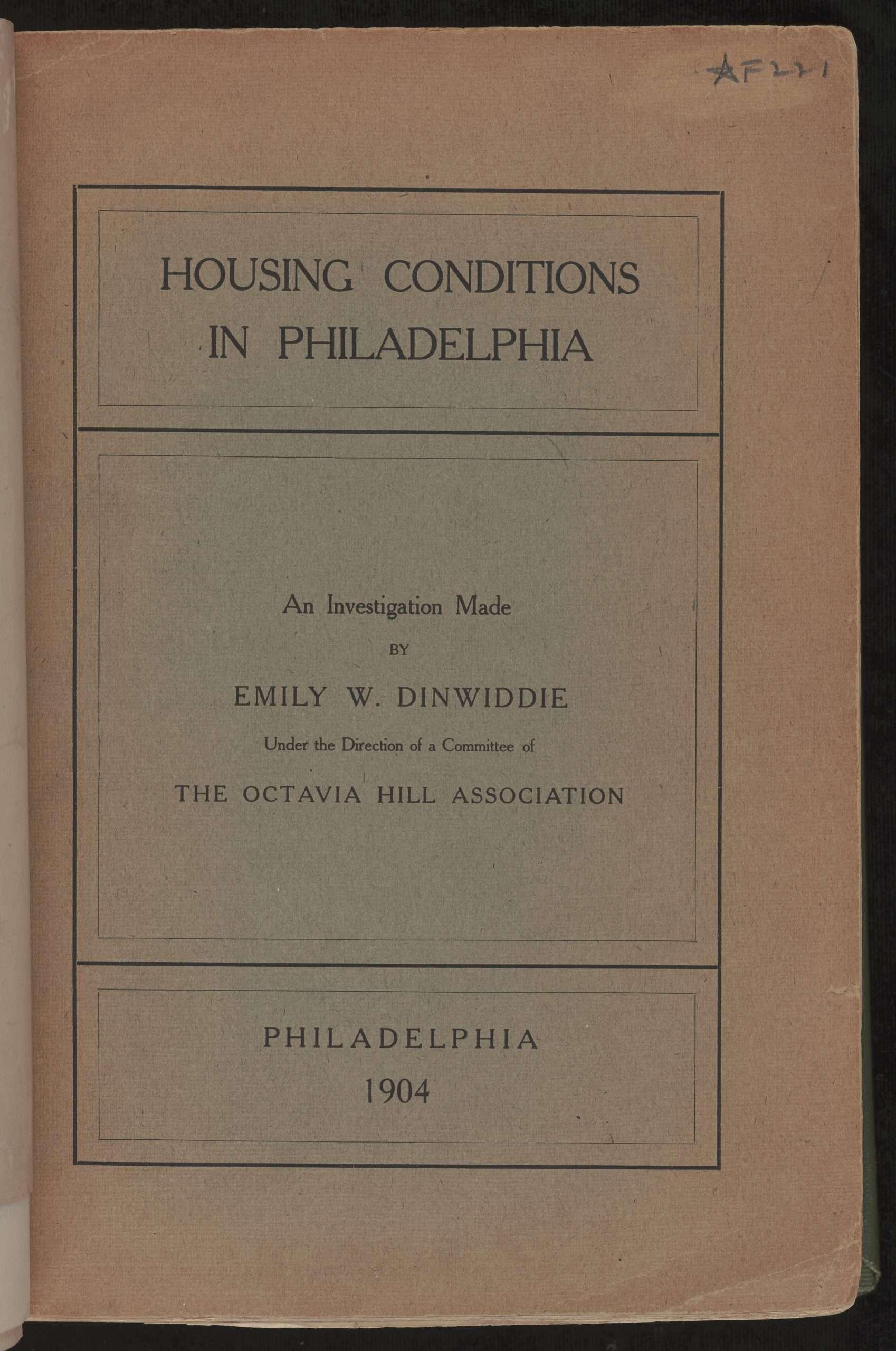 Housing Conditions in Philadelphia