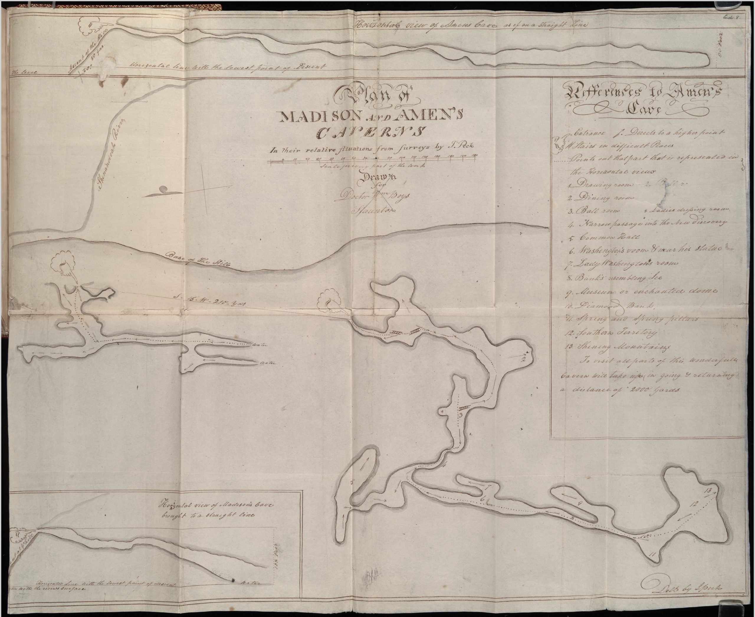 Plan of Madison and Amen's Caverns