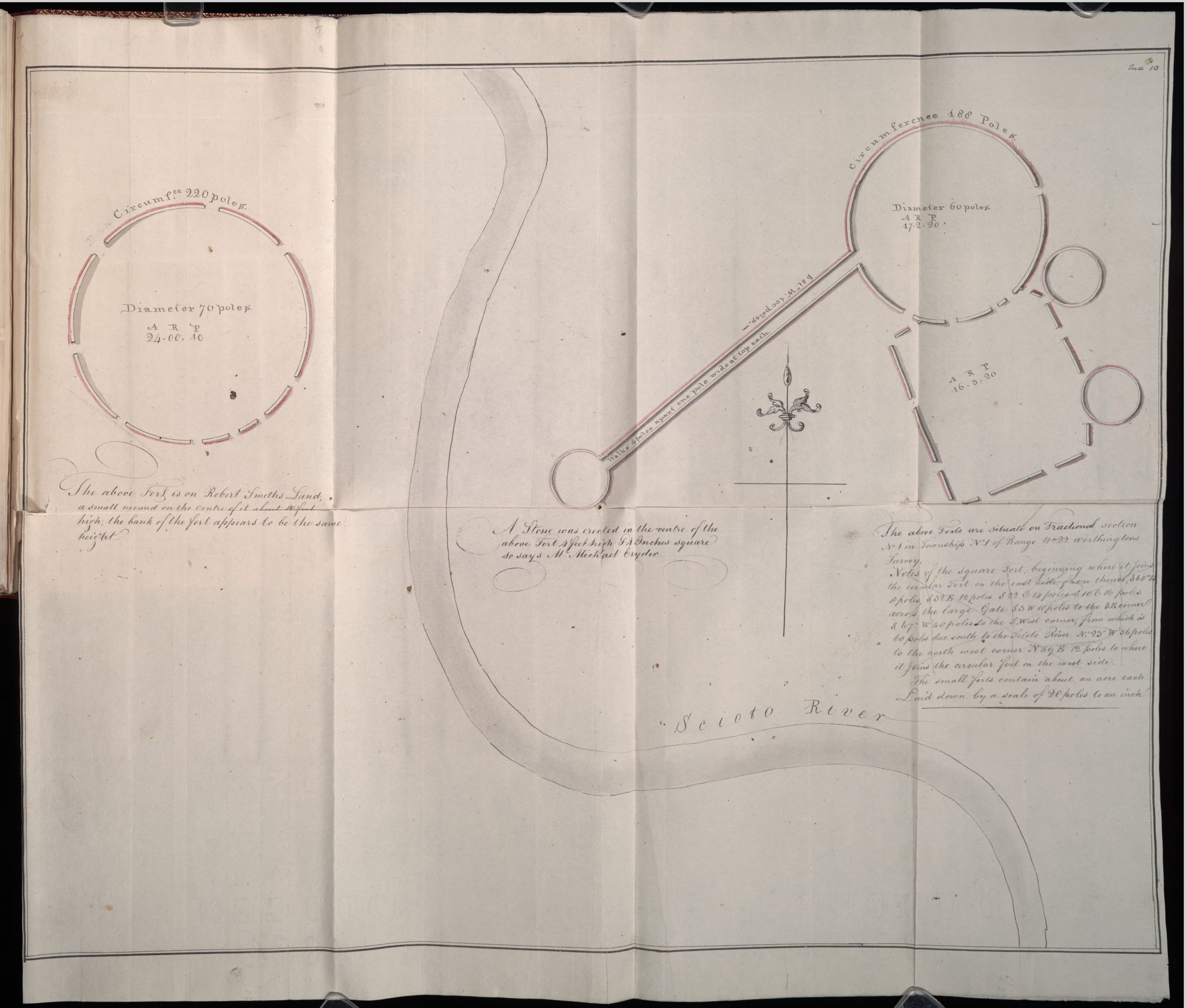 A Sketch of Several Forts by the Scioto River