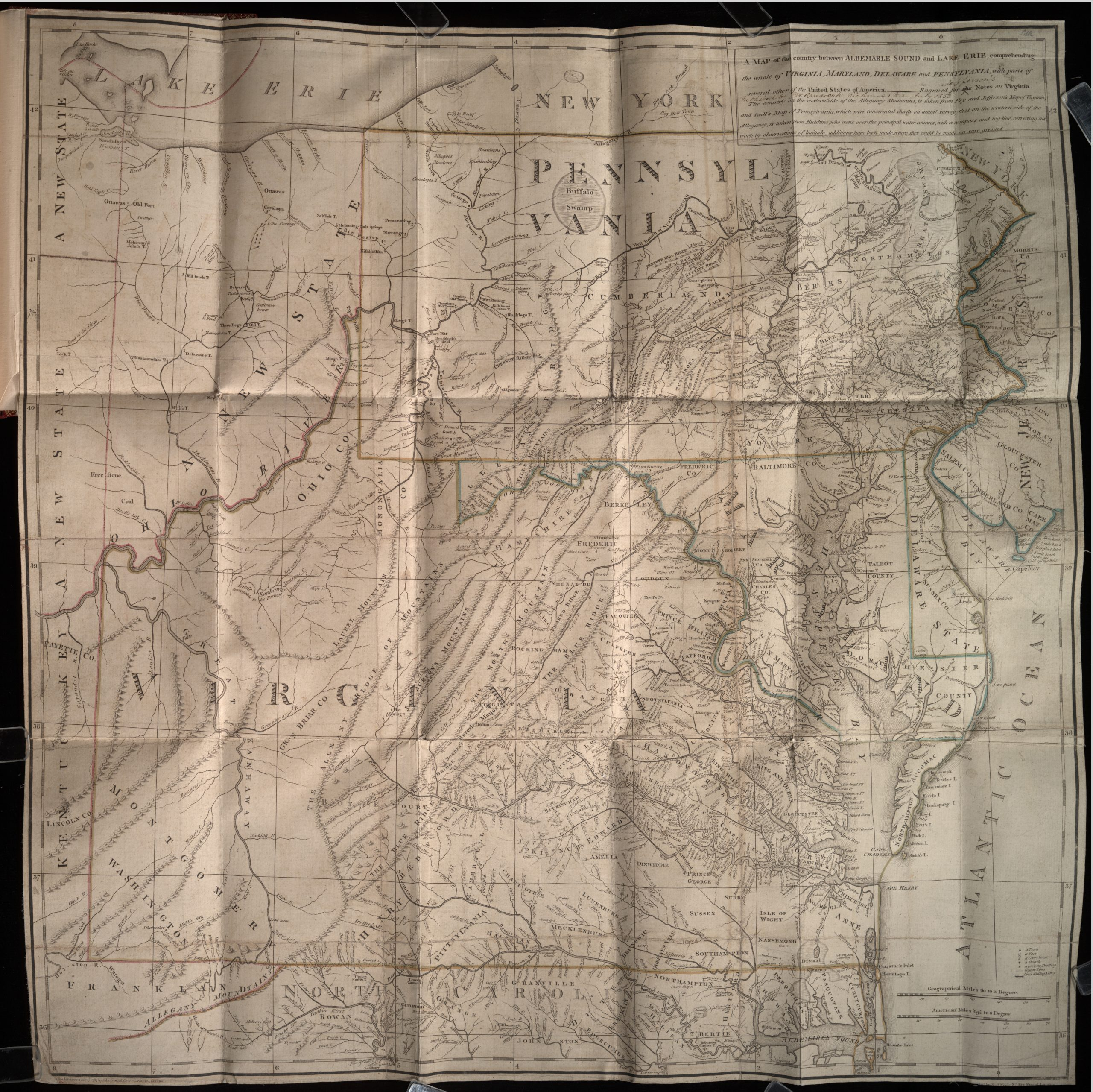A Map of the country between Albemarle Sound