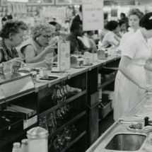 Students Seated at Lunch Counter in Farmville