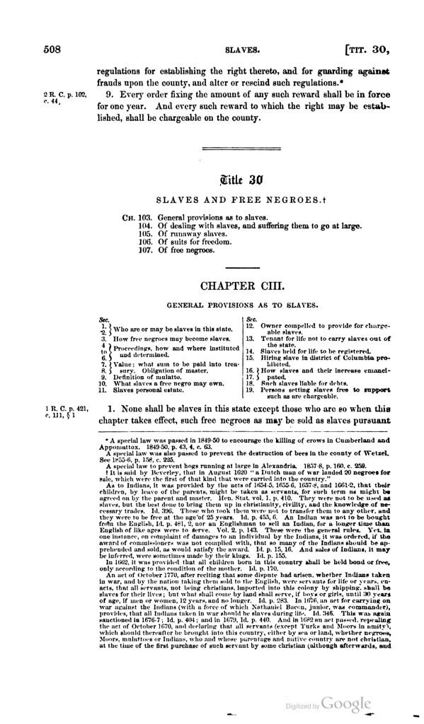 The Code of Virginia (1860)