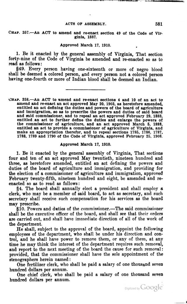 Acts of the General Assembly (1910)