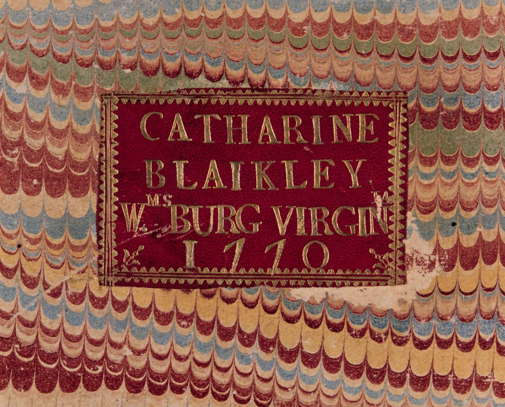 Bookplate belonging to Catherine Blaikley