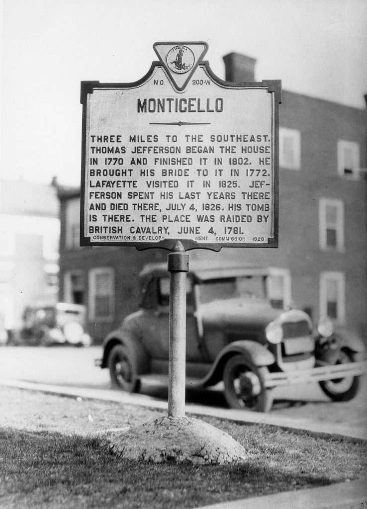 Monticello Highway Marker