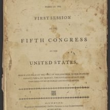 Acts Passed at the First Session of the Fifth Congress of the United States