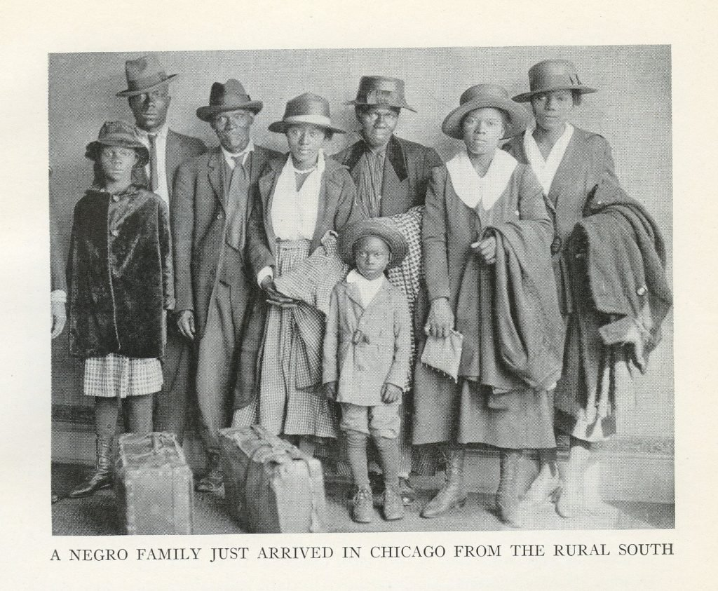 A Negro Family Just Arrived in Chicago from the Rural South