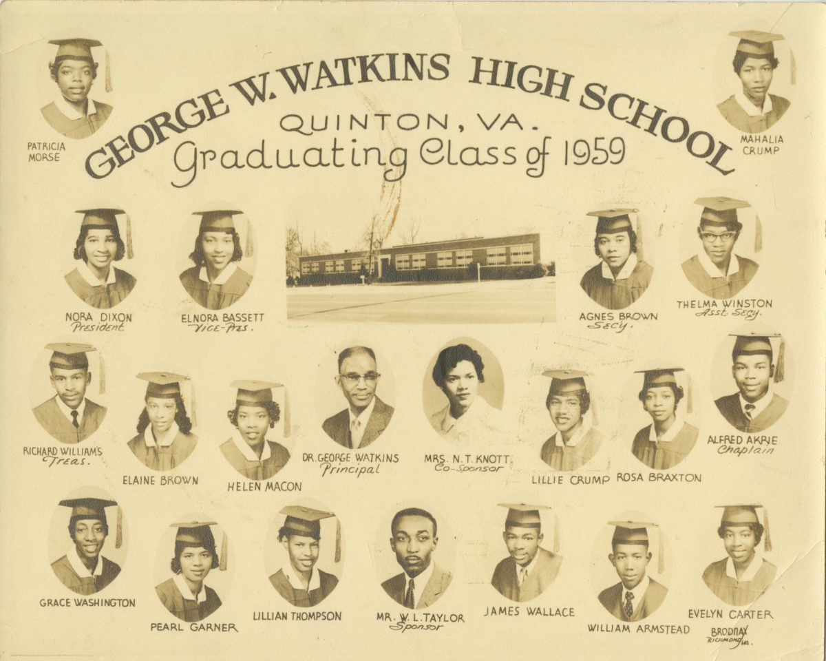 George W. Watkins High School Graduating Class of 1959
