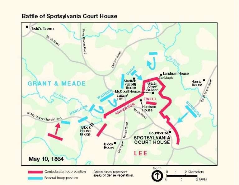 Maps of the Battle of Spotsylvania Court House
