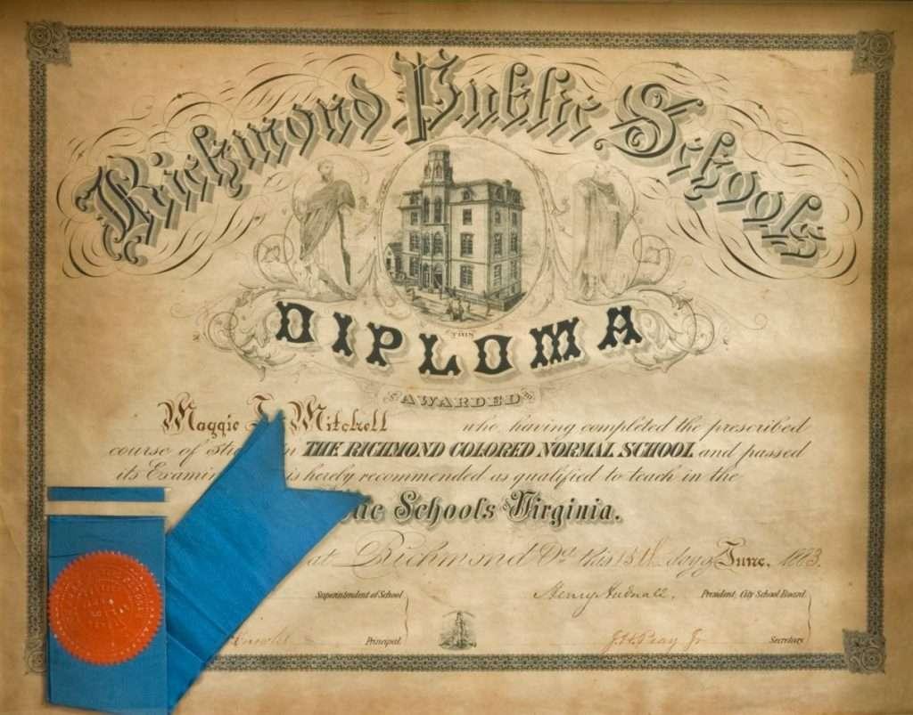 Richmond Colored Normal School Diploma