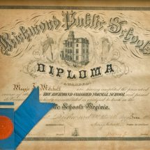 Richmond Colored Normal School Diploma