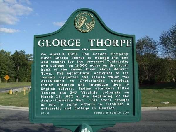 George Thorpe Historical Marker