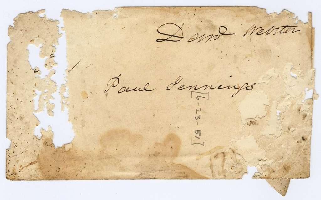 Letter for Paul Jennings