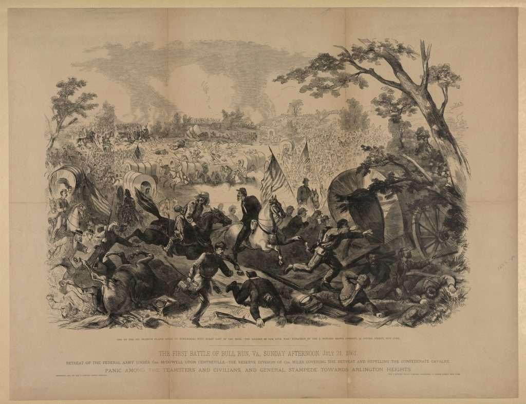 Union Retreat at First Manassas
