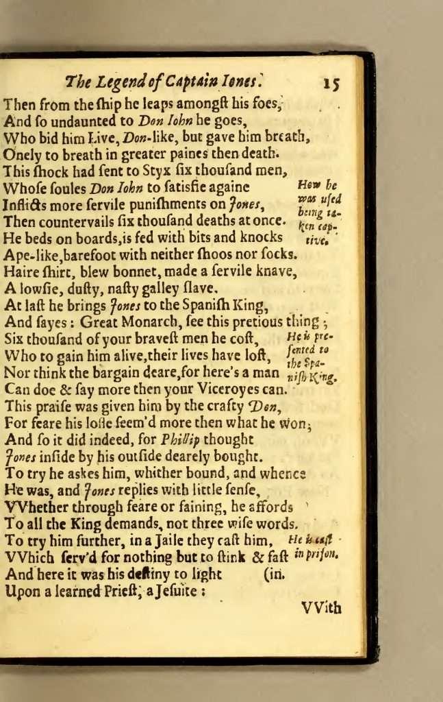 The Legend of Captaine Jones (1631)