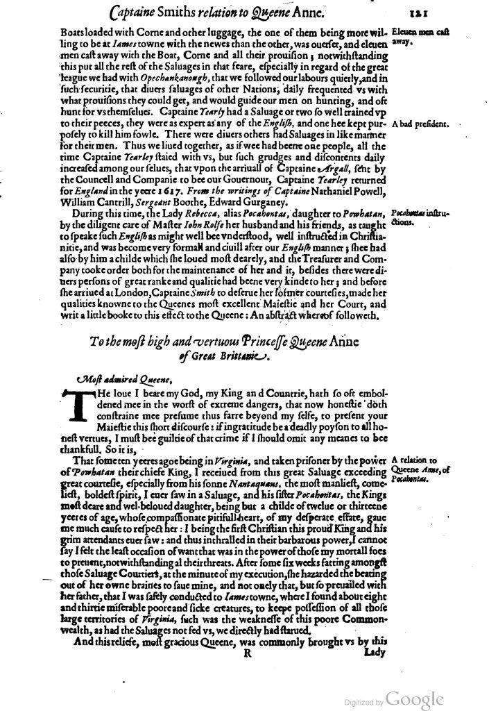 The Generall Historie of Virginia