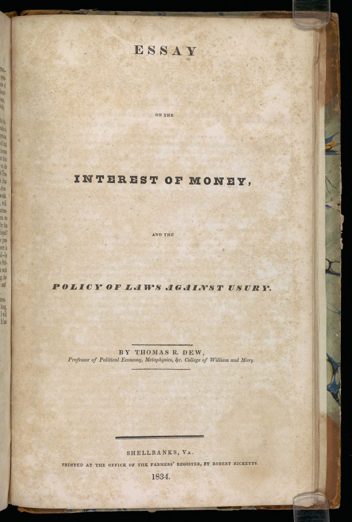 Essay on the Interest of Money