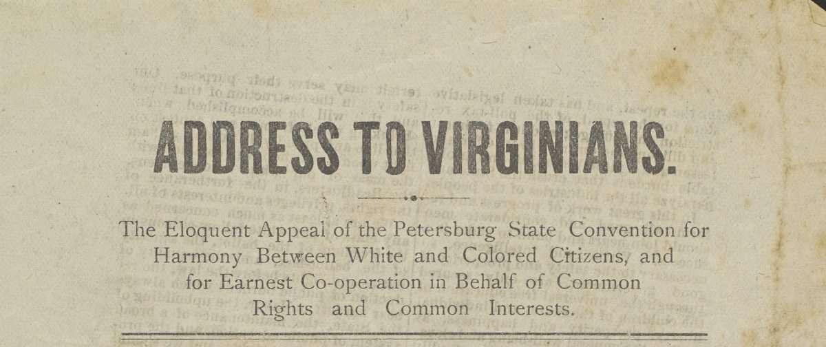 Address to Virginians.