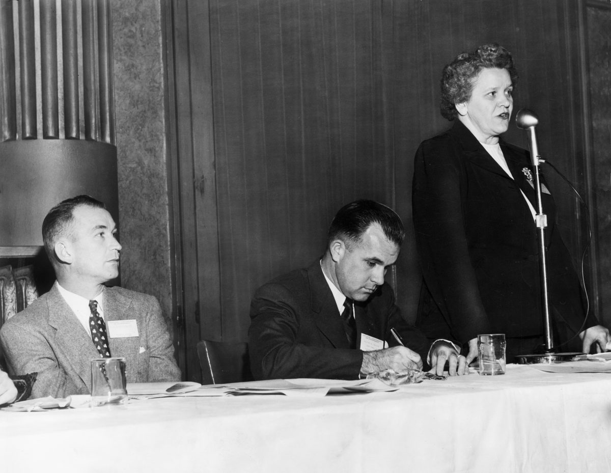 Odessa Pittard Bailey Addressing a Conference