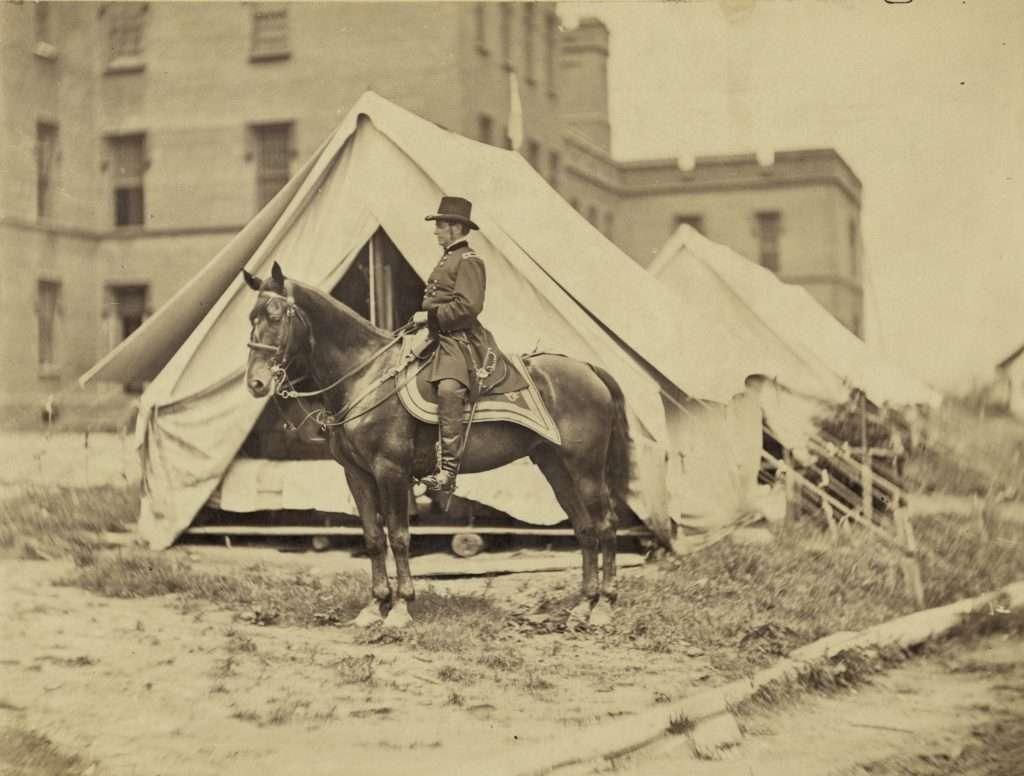 General Joseph Hooker on Horseback