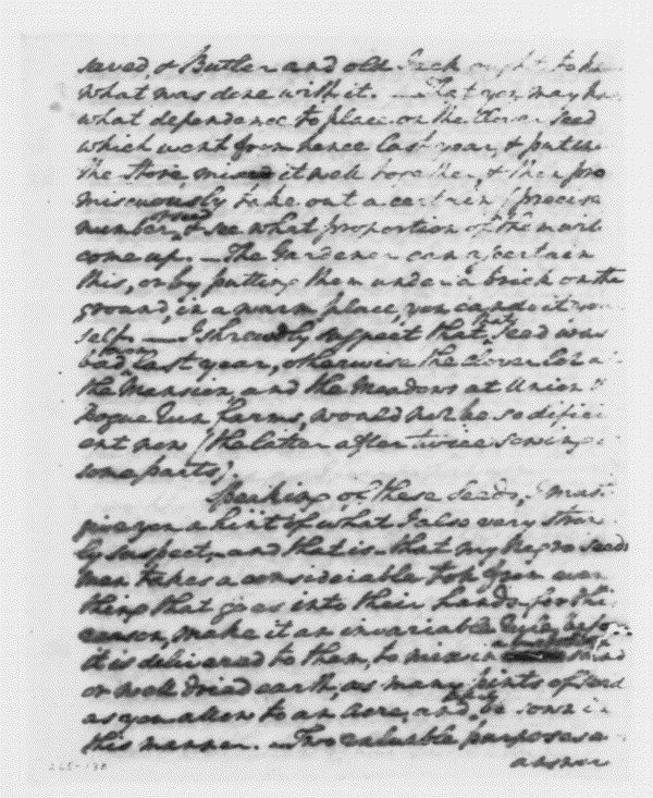 Letter from George Washington to William Pearce (January 26