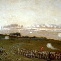 Picketts charge on the Union centre at the grove of trees about 3 PM