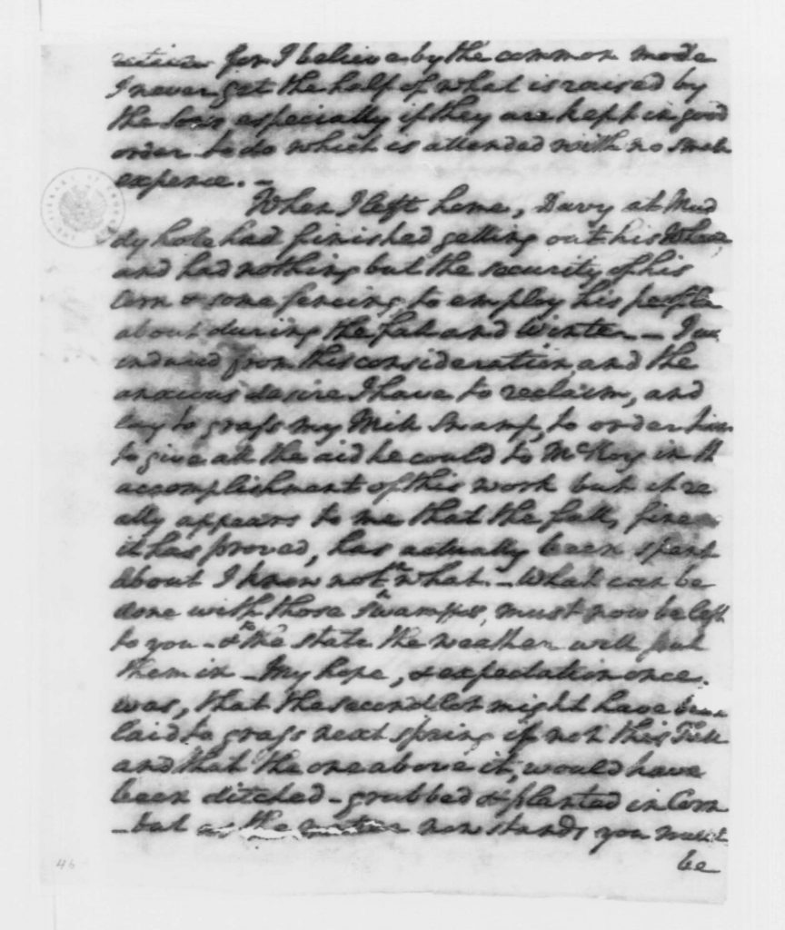 Letter from George Washington to William Pearce (December 23