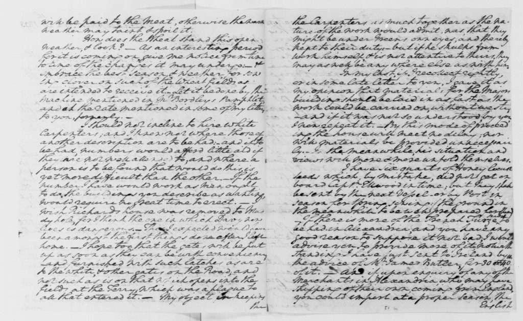 Letter from George Washington to Anthony Whitting (January 20
