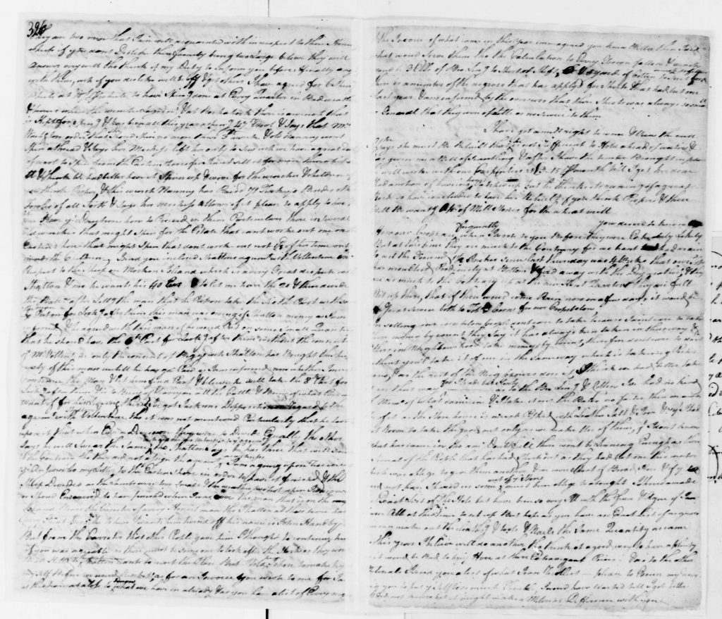 Letter from James Hill to George Washington (August 30