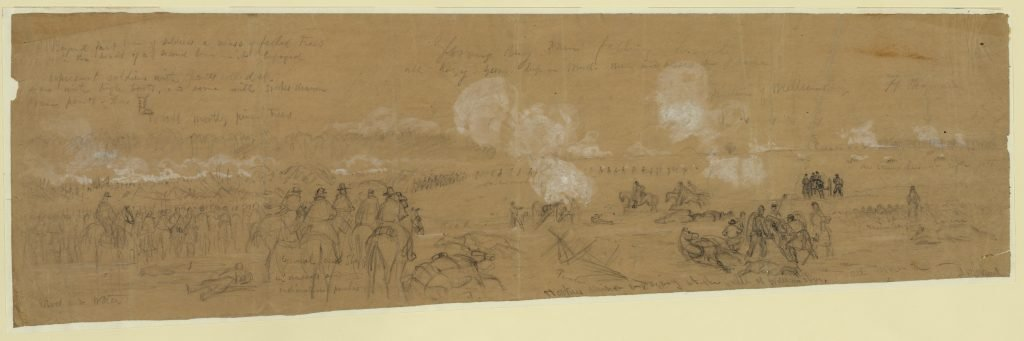 Hookers division engaging at the battle of Williamsburg