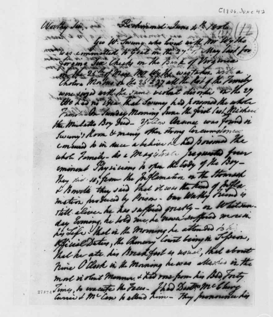 Letter from William DuVal to Thomas Jefferson (June 4