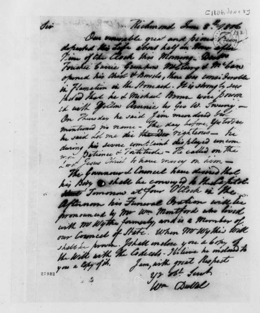 Letter from William DuVal to Thomas Jefferson (June 8