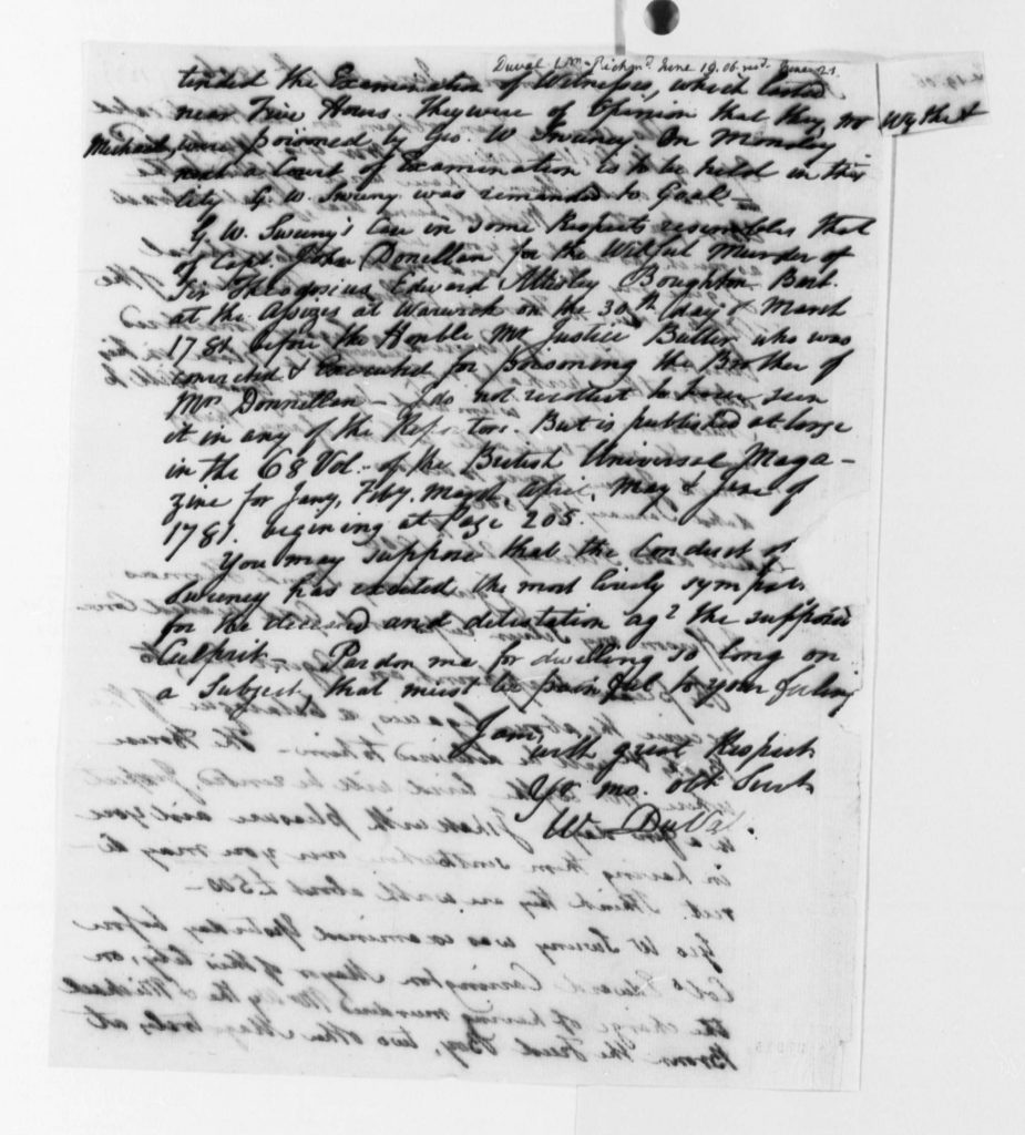 Letter from William DuVal to Thomas Jefferson (June 19