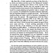 Memoir of the Author by B. B. Minor (1852)
