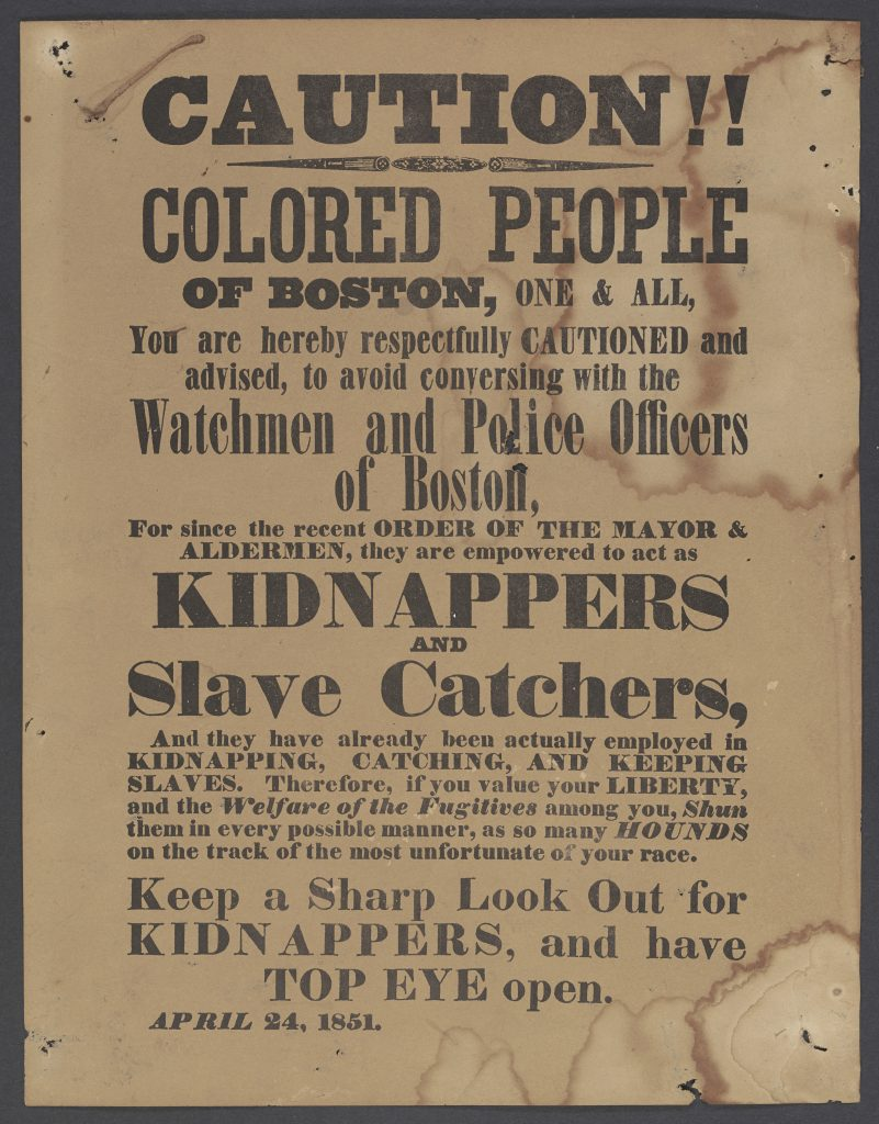 Caution!! Colored People of Boston