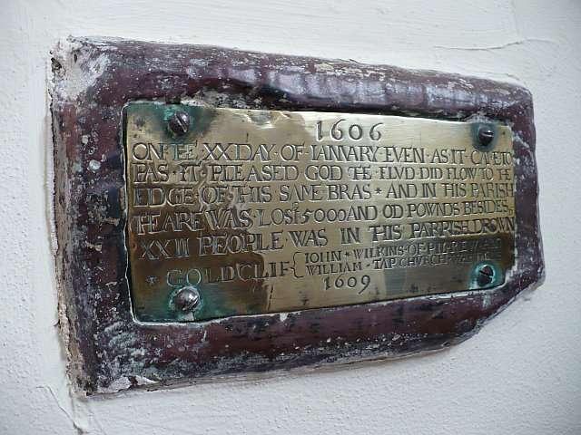 Plaque Commemorating 1607 Flood