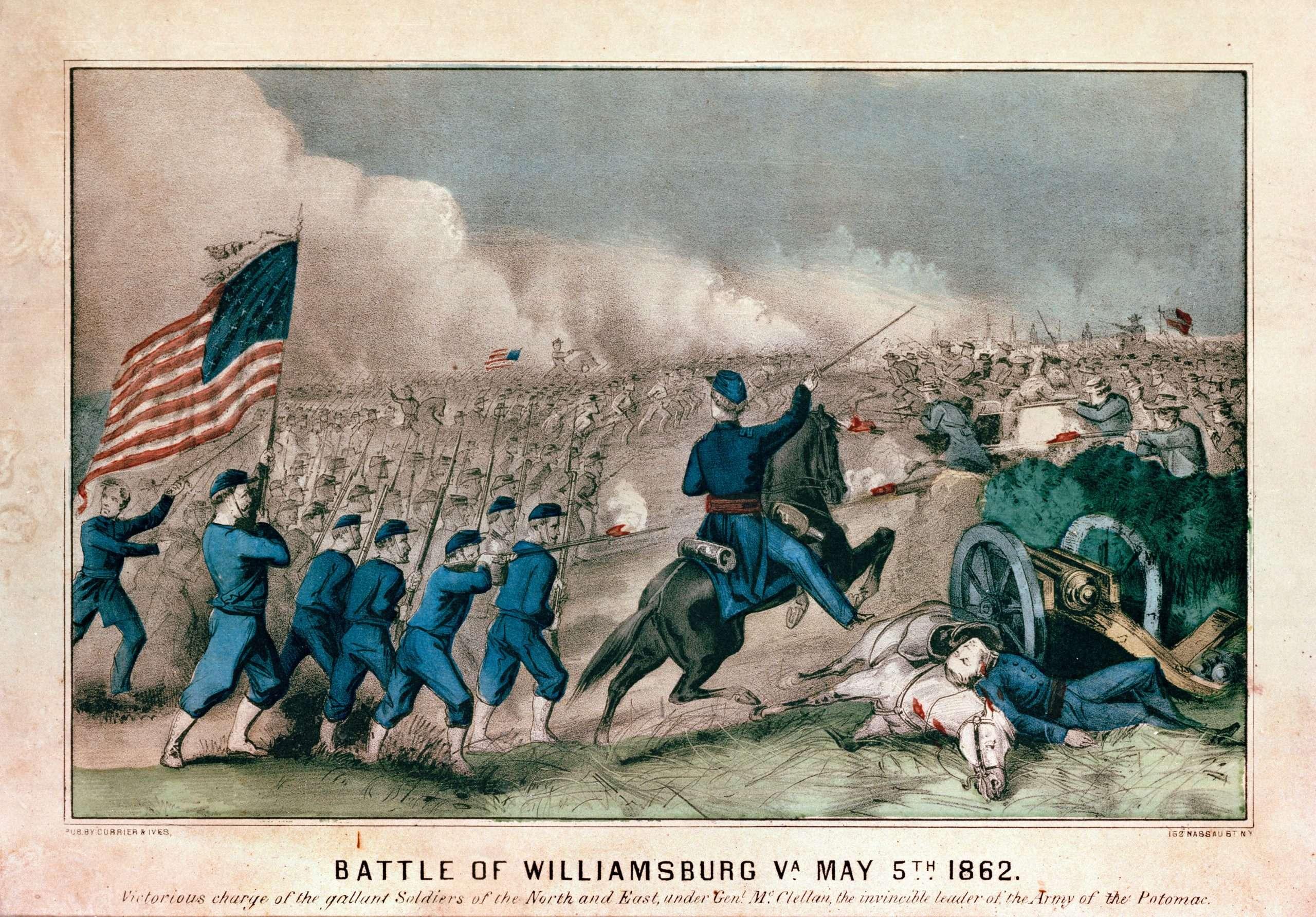 Battle of Williamsburg Va. May 5th 1862.